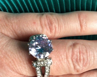 Sz9 Simulated Lavender Diamond Jewelry Set