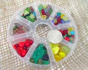 Colorful Flowers Bead Stash
