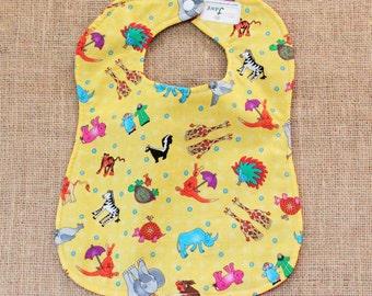 Noah's Ark Cloth Baby Bib