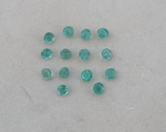 Over 1 carat Colombian emerald round gem parcel 2.5mm each
