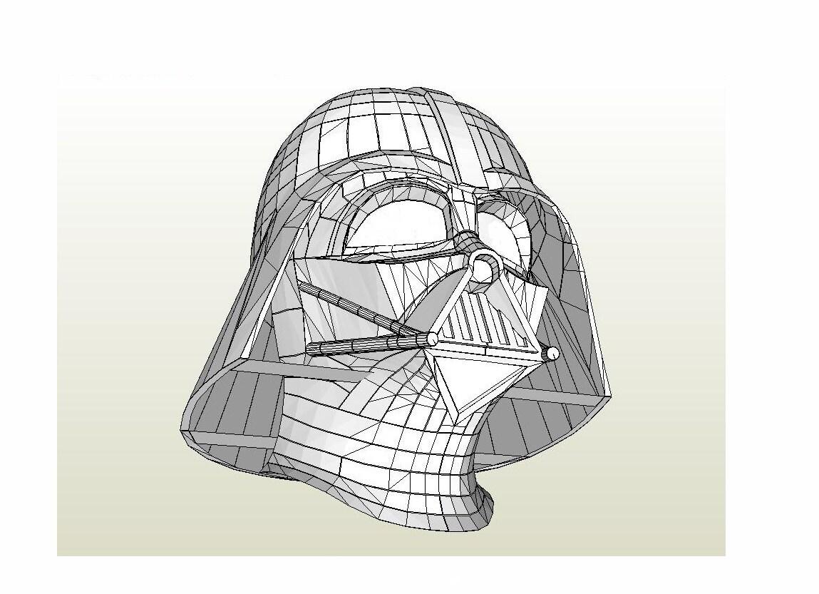 Darth Vader casco Star Wars escala 1:1 DIY Life-Size papel ...