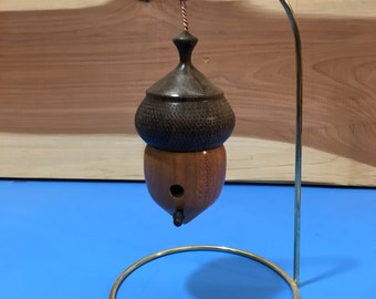 Black Walnut and Cherry Birdhouse Ornament