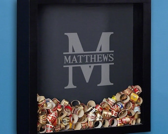 Personalized Shadow Box with Oakmont Design - A Unique Custom Gift for Men & Women - Proudly Display Your Mementos Anywhere