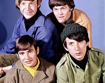 Davy Jones , Michael Nesmith , Peter Tork and Micky Dolenz of the Monkeys , 1960's