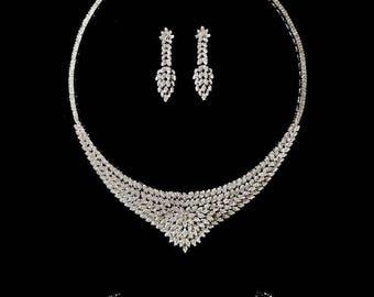 Wedding Jewelry Set Bridal Jewelry Set Bridesmaids Jewelry Set CZ Jewelry Set Party Jewelry Set