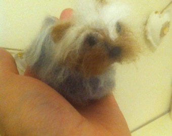 Your Pet Needle felted Miniature Yorkshire Terrier/Yorkie replica of your Dog/Puppy/Pet/Animal