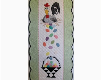 Esther the Easter Chicken Table Runner or Wall Hanging Pattern - PDF Version