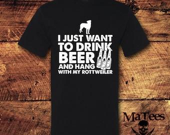 Rottweiler, Rottweiler Shirt, Dog Breeds, Rescue dog, Beer, Beer Shirt, Drinking Shirt, Drinking, Dog Lover Gift, T-Shirt, Shirt, Tee