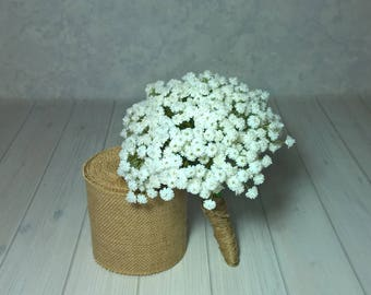 Baby's Breath, Gypsophila, Real Touch Bridal Bouquet, Bridesmaid, Flower GIrl