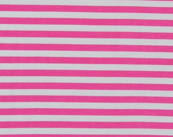 1/2  pink 3/8 stripes jesrey cotton lycra