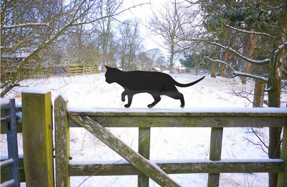 Prowling Garden Cat, Metal Cat Ornament, Garden Sculpture