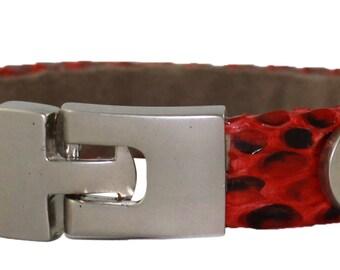 Python Bracelet, Python Cuff, BAJ 496 S Red