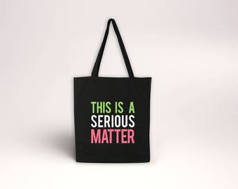A Serious Matter - Pink, Green Tote - Alpha Kappa Sorority Bag