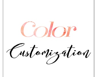Add on — Color customization for Wedding Invitation Kits