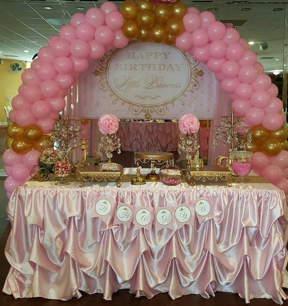 Custom Made Wedding Cake Table Head Table Tablecloth Pink