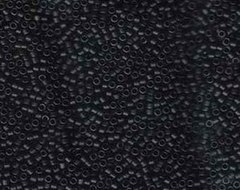 ON SALE 11/0 Miyuki Delica Matte Black Glass Seed Beads 7.2 grams DB310