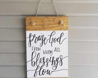 Hanging Doxology Canvas