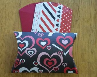 Set of Three Valentine's Pillow Boxes