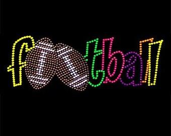 Adult Football neon rhinestud tee a10418c