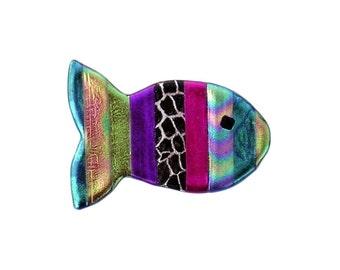 Rainbow Fish Pin, Rainbow Fish Magnet, Fish Jewelry, Christian Fish Jewelry