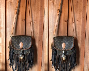 Vintage Swag Fringed Vintage Boho Style Louis Vuitton Crossbody Bag