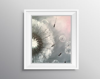 Weeds or Wishes - Physical Print of Dandelion Seeds Painting (Multiple Sizes)