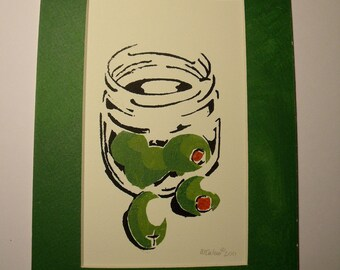 Olive Print