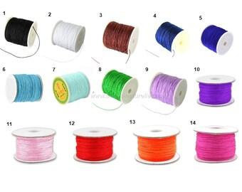 0.5mm - Choose Color - 1m or 10m Nylon Thread
