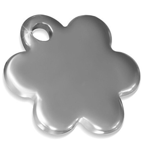 """10 Stainless Steel Flower Dangle DIY Jewelry Charms  8mm x 8mm to .31"""" x .31"""" 316L Surgical Steel"""