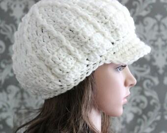 Crochet PATTERN - Crochet Newsboy Hat Pattern - Slouchy Hat Pattern - Crochet Pattern Women - Crochet Patterns to Print - 4 Sizes - PDF 222