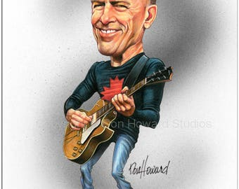 Don Howard's Depiction of Bryan Adams Celebrity Caricature