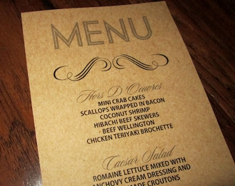 RESERVED for Aliciasouthall - Custom Menu for Special Events