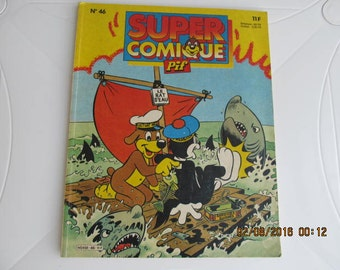 French Vintage Children's Magazine with Comic Pif and Hercule, Collectible Magazine wit Pif and Hercule from 1980s