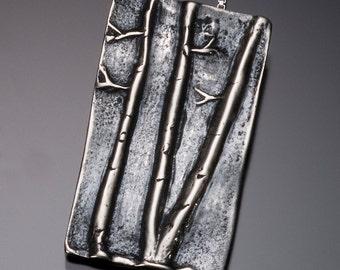 Aspen Tree Necklace // Silver Trees Pendant