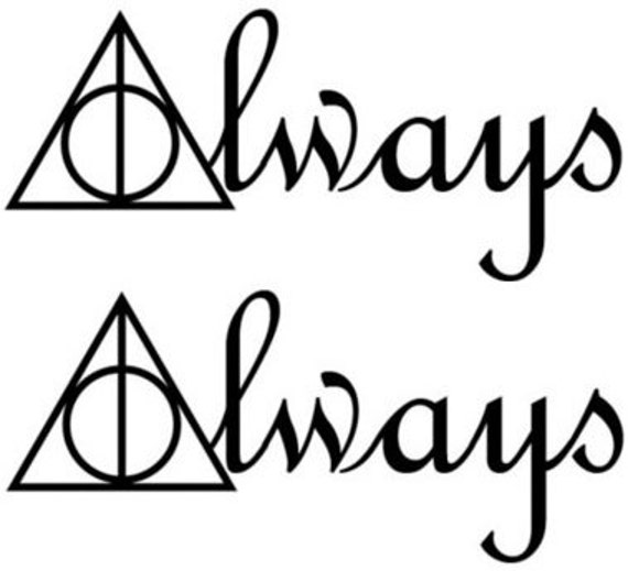 Temporary Tattoo Set Of 2 Harry Potter Deathly Hallows