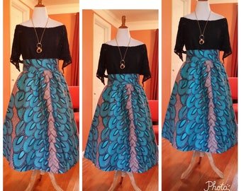 African clothing. SARAI Collection, African skirt, Made to order, Dutch Wax Fabric, African clothing, Gathered waisline