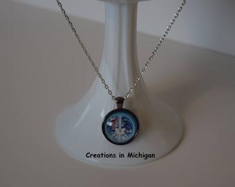 World peace necklace etsy world peace glass dome pendant necklace aloadofball Choice Image