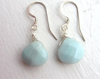 Beach Earrings, Boho Earrings, Spring 2017, Spring Fashion, Chalcedony Earrings, Beachwear, graduation gift, july 4th, beach jewelry