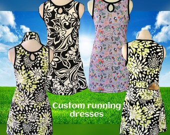 Custom running dress (made with customer's fabric)