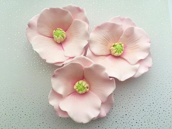 4 fondant poppy flowers i 4 gumpaste poppy flowers i fondant mightylinksfo