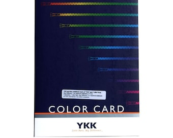 YKK Master Color Card - over 400 colors - for all YKK ZIPPERS- both wholesale and retail
