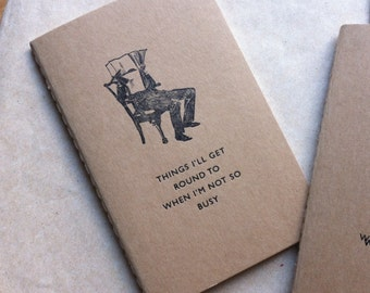 Things I'll get round to  - Letterpress Moleskine Pocket Cahier (buff)