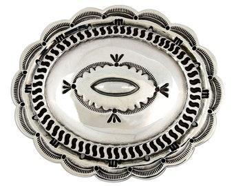 VTG Museum Quality Navajo Louis D. McCabe .925 Silver Belt Buckle