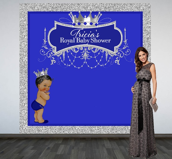 Royal Baby Shower Backdrop Welcome Prince Photo Booth