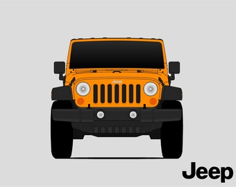 Jeep Wrangler Poster // Jeep Print // JK // J8 // TJL // Unlimited // Rubicon // Sahara //