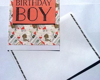 Birthday Boy Card British Fish And Chips Themed