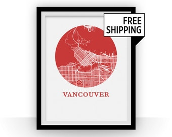 Vancouver map etsy vancouver map print city map poster gumiabroncs Choice Image