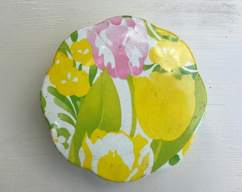 Avon Tulip Flower Tin