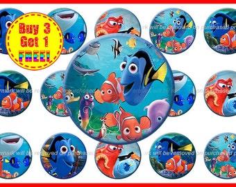 Finding Dory Bottle Cap Images - Dory Bottle Cap Images - Instant Download - High Resolution- Images - Buy 3, Get 1 FREE