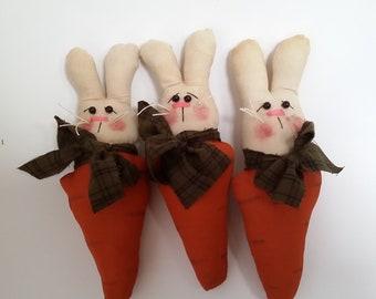 bunny, primitive bunny bowl filler, bunny ornament, prim bunny, spring bunny, spring bunny hanger, primitive rabbit, primitive bunny,